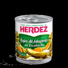 Chiles Jalapeños en Rajas 220g Herdez