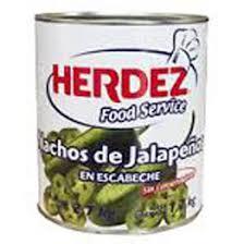 Chile Jalapeño en Nachos 2.8kg Herdez